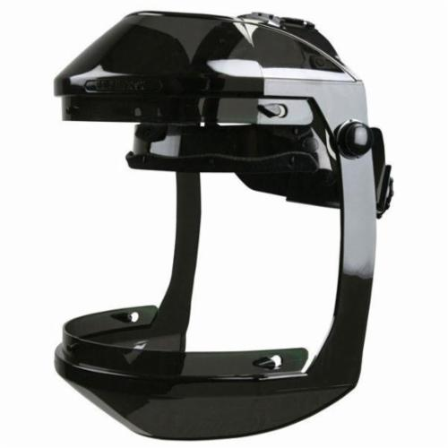 U.S. Safety™ 482000 Single Matrix® Faceshield Headgear, Gray, Leatherette Sweatband/Polycarbonate, Ratchet Adjustment
