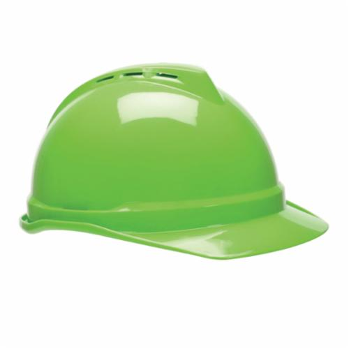 V-Gard® 10034263 Freedom Front Brim Hard Hat, 6-1/2 in Fits Mini Hat, 8 in Fits Max Hat, Polyethylene, Fas-Trac® III Suspension, ANSI Electrical Class Rating: Class E, ANSI Impact Rating: Type 1, United We Stand Graphics, Ratchet Adjustment