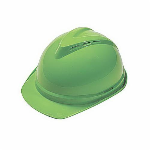 V-Gard® 10035212 500 Vented Protective Cap, 6-1/2 in Fits Mini Hat, 8 in Fits Max Hat, Polyethylene, 4-Point Fas-Trac® III Suspension, ANSI Electrical Class Rating: Class C, ANSI Impact Rating: Type 1, Ratchet Adjustment