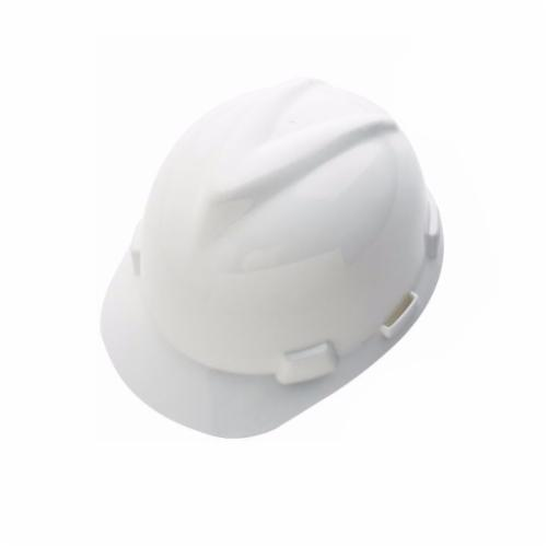 V-Gard® 10035213 500 Vented Protective Cap, 6-1/2 in Fits Mini Hat, 8 in Fits Max Hat, Polyethylene, 6-Point Fas-Trac® III Suspension, ANSI Electrical Class Rating: Class C, ANSI Impact Rating: Type 1, Ratchet Adjustment