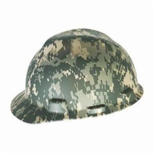 V-Gard® 10071159 Hard Hat, SZ 6-1/2 Fits Mini Hat, SZ 8 Fits Max Hat, Polyethylene, 4-Point Fas-Trac® III Suspension, ANSI Electrical Class Rating: Class E, ANSI Impact Rating: Type 1, American Flag with Eagle Graphics, Ratchet Adjustment
