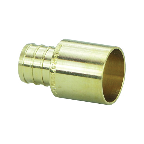 Viega 46635 PureFlow® Adapter, 1/2 in, Crimp x Female C, Brass, Domestic