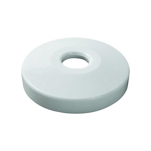 Viega 53120 PEX Crimp Single Escutcheon, For Use With Viega PureFlow® PEX, 1/2 in Dia, Plastic, White, Domestic