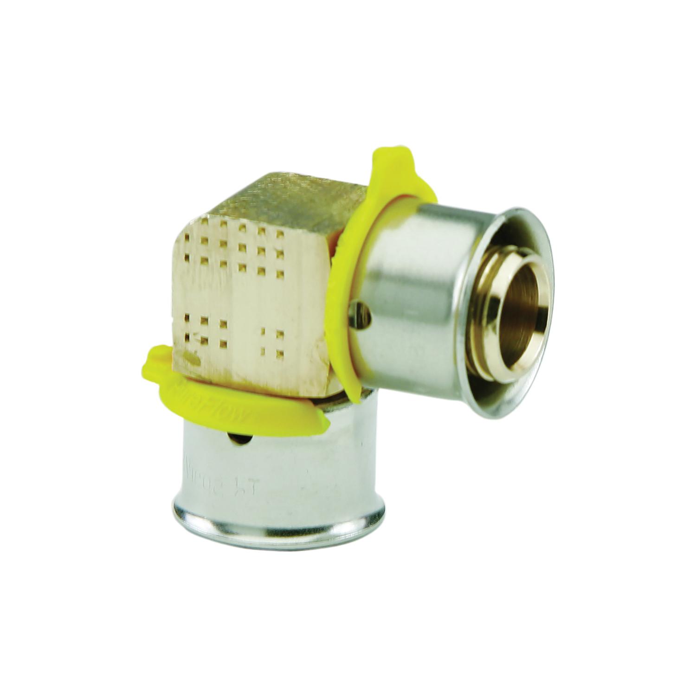 Viega 93520 PureFlow® 90 deg Elbow, 1/2 in, Press, Bronze, Import
