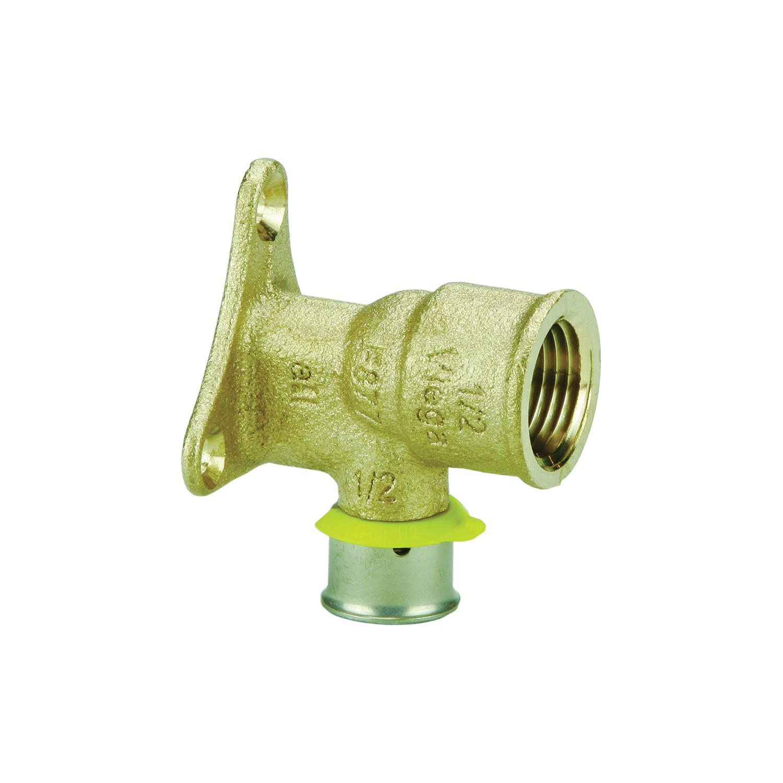 Viega 94520 PureFlow® Drop Ear Elbow, 1/2 in Nominal, Press x FNPT End Style, Bronze, Import