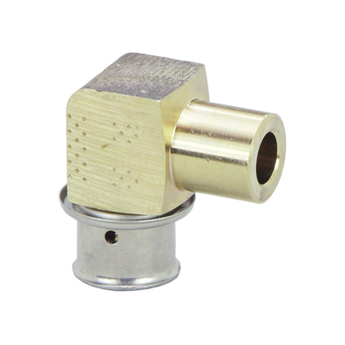 Viega 99310 PureFlow® 90 deg Elbow, 1/2 in, Press x Fitting, Bronze, Import