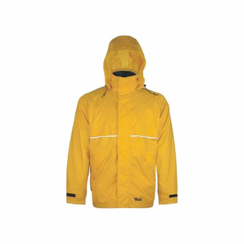 Viking® 2900Y-XL Open Road® 2900Y 3-Piece Rainsuit, Men's, XL, Yellow, 150 Denier Trilobal Ripstop Polyester/Corduroy Cotton, 39 in Waist, 32 in L Inseam, Detachable Hood