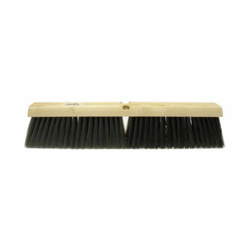 Perma-Sweep™ 42164 Push Broom, 24 in OAL, 3 in Trim, Fine Sweep Face, Flagged Green Polystyrene Bristle