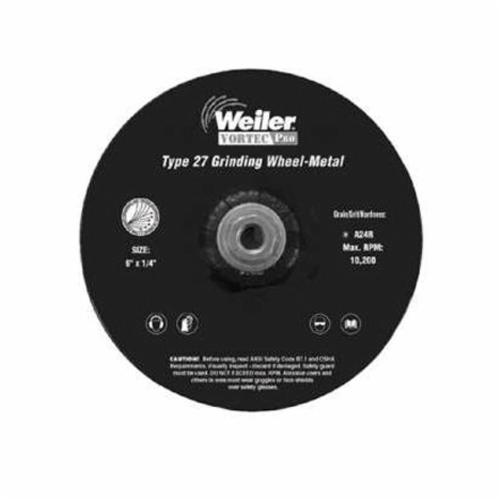 Vortec Pro® 56457 Type 27 Cut-Off Wheel, 4-1/2 in Dia x 1/4 in THK, 7/8 in Center Hole, 24 Grit, Aluminum Oxide Abrasive