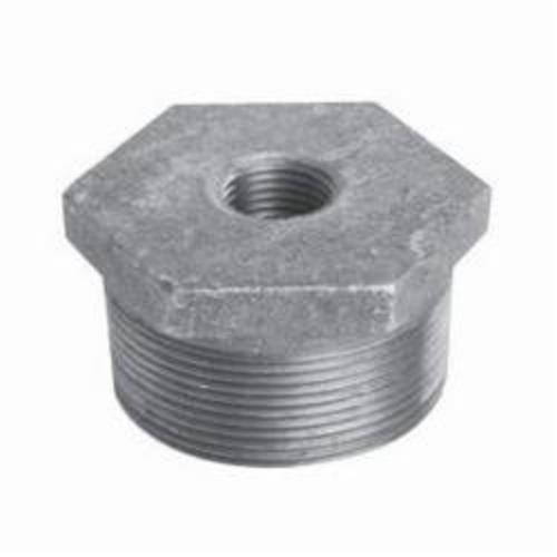 Ward Mfg DXC.BSB Hex Head Pipe Bushing, Carbon Steel, 1/2 x 3/8 in, Threaded, Black Oxide, Domestic