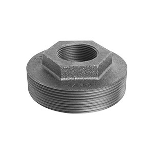 Ward Mfg 4X1D.BTB Double Tapped Tank Bushing, 4 x 1-1/2 x 1-1/2 in, NPS, Cast Iron, Black, Domestic