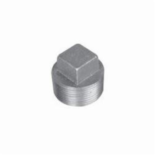Ward Mfg B.BSP Square Head Pipe Plug, Carbon Steel, 1/4 in Nominal, MNPT End Style, Black Oxide, Domestic