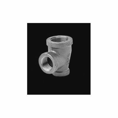 Ward Mfg 1DX1X1D.NMT Pipe Reducing Tee, 1-1/2 x 1 x 1-1/2 in, FNPT, 150 lb, Malleable Iron, Galvanized, Domestic