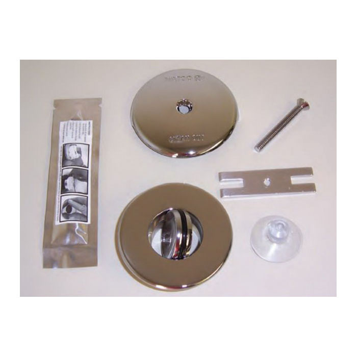 Watco® 48100-CP NuFit® PRESFLO® Single Hole Trim Kit, Brass, Chrome Plated