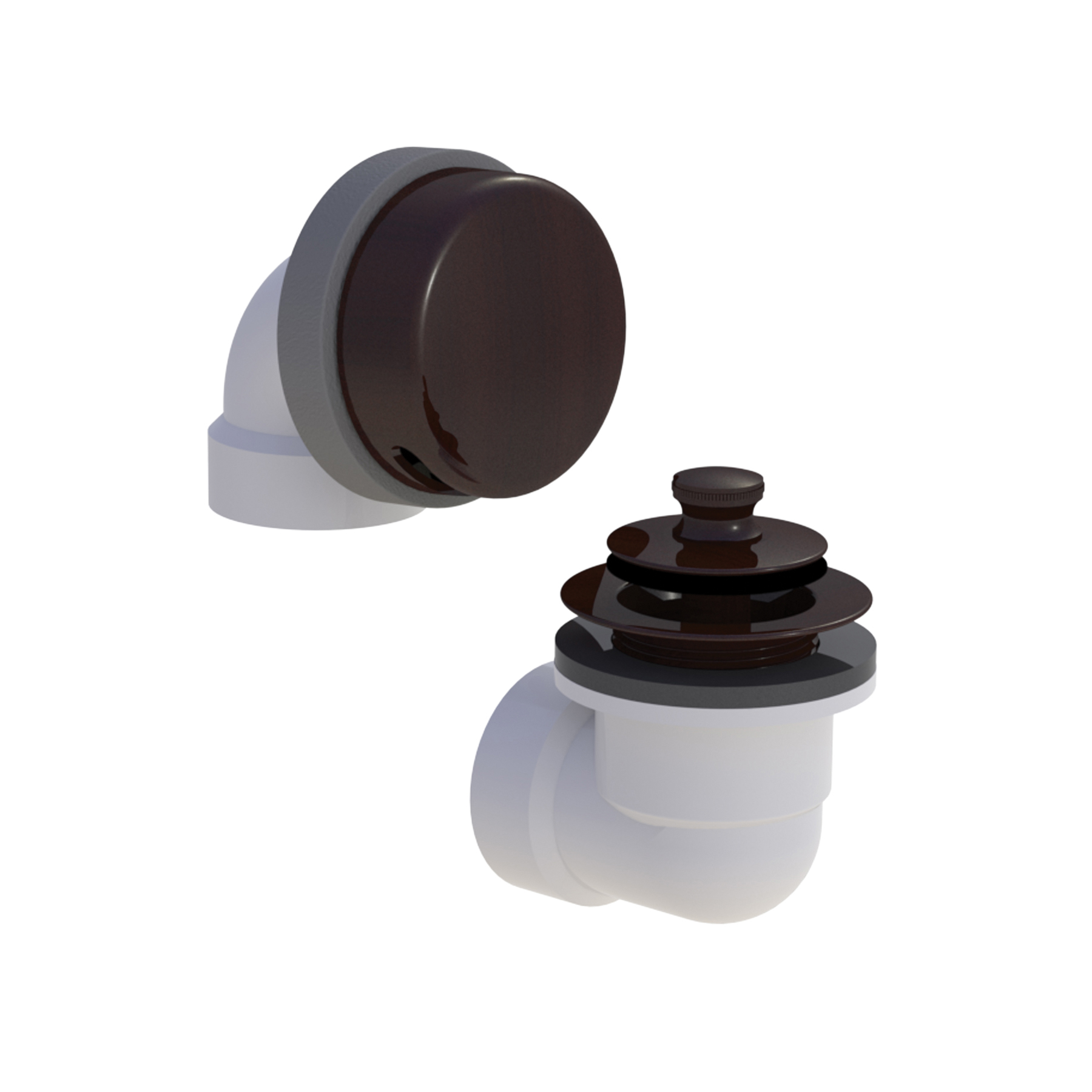 Watco® 901-LT-PVC-BZ Innovator® 901 Bath Waste Half Kit With Oil Rubbed Bronze Lift and Turn Stopper, PVC