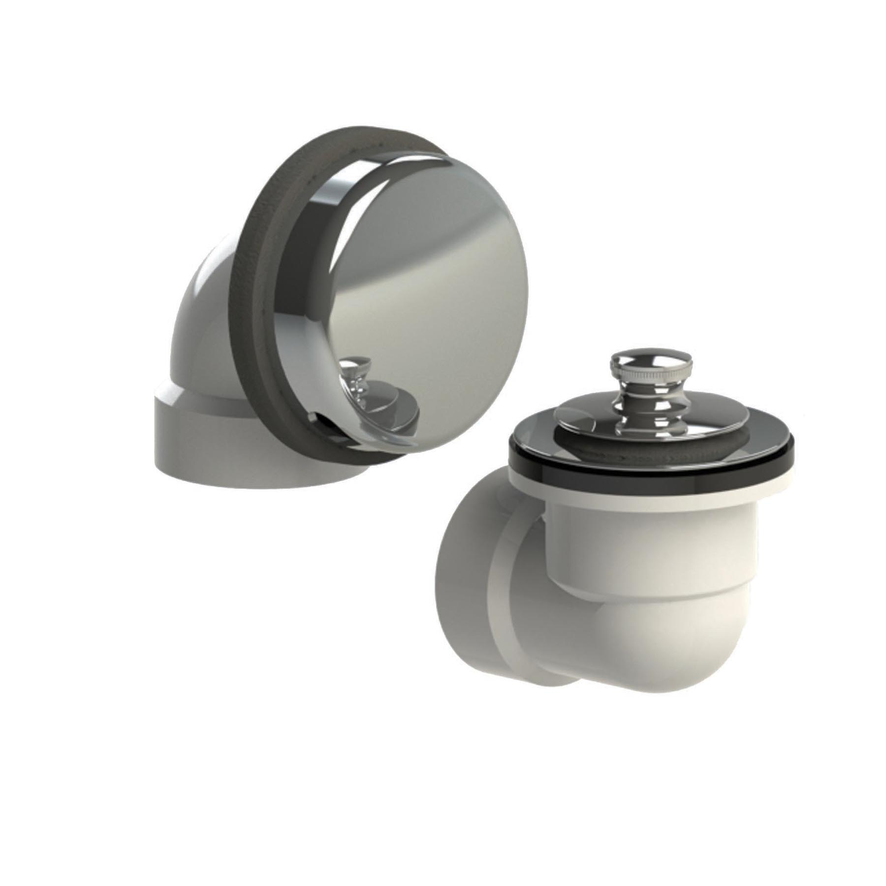 Watco® 901-LT-PVC-CP Innovator® 901 Bath Waste Half Kit With Chrome Plated Lift and Turn Stopper, PVC, Domestic