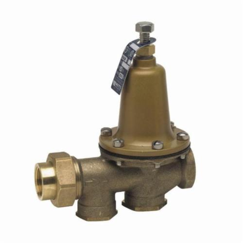 WATTS® 0009257 LF25AUB, LF25AUB-Z3 Pressure Reducing Valve, 3/4 in, FNPT Union x FNPT, 25 to 75 psi, Cast Copper Silicon Alloy Body, Import