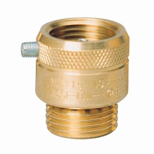 WATTS® 0061877 8 Series, 8A Vacuum Breaker, 3/4 in, Female Hose Threaded x Male Hose Threaded, Brass Body, Import