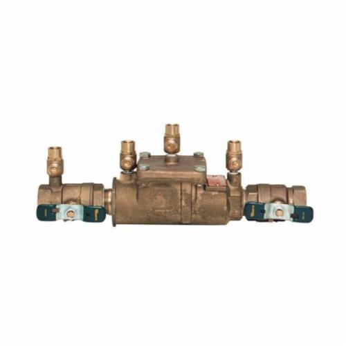 WATTS® 0062020 007, 007M3-QT Double Check Valve Assembly, 3/4 in Nominal, Quarter-Turn Ball Valve, Bronze Body, Domestic