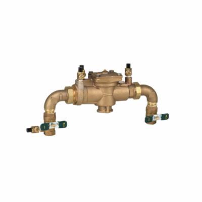 WATTS® 0062451 U009, U009-A-QT Reduced Pressure Zone Assembly, 3/4 in Nominal, Swivel Union End Style, Quarter-Turn Ball Valve, Bronze Body, Domestic