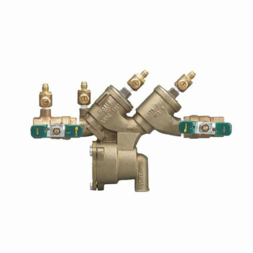 WATTS® 0122677 LF919, LF919-QT-S-AG Double Check Valve Assembly, 3/4 in Nominal, NPT End Style, Quarter-Turn Resilient Seated Ball Valve, Cast Copper Silicon Alloy Body, Reduced Pressure Zone, Domestic