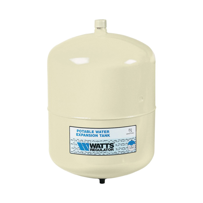 WATTS® 0067370 PLT, PLT-5 Potable Water Expansion Tank, 2.1 gal Tank, 1.48 gal Acceptance, 150 psi Pressure, 8 in Dia x 11 in H