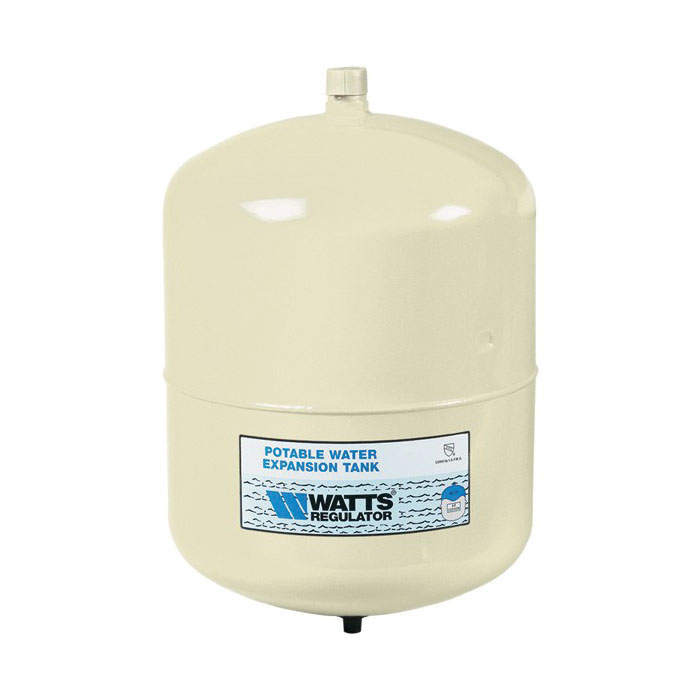 WATTS® 0067371 PLT, PLT-12 Potable Water Expansion Tank, 4.5 gal Tank, 3.42 gal Acceptance, 150 psi Pressure, 10-1/2 in Dia x 13-1/2 in H