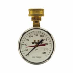 WATTS® 0069721, 276H300 Gauge, 0 to 300 psi, 3/4 in Hose Thread Connection, 2-1/2 in Dial