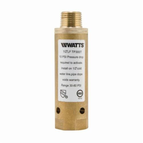 WATTS® 0121238 LFTP300, LFTP300T Trap Primer, 1/2 in Pipe, 4-5/16 in L, Threaded Connection, Brass, Import