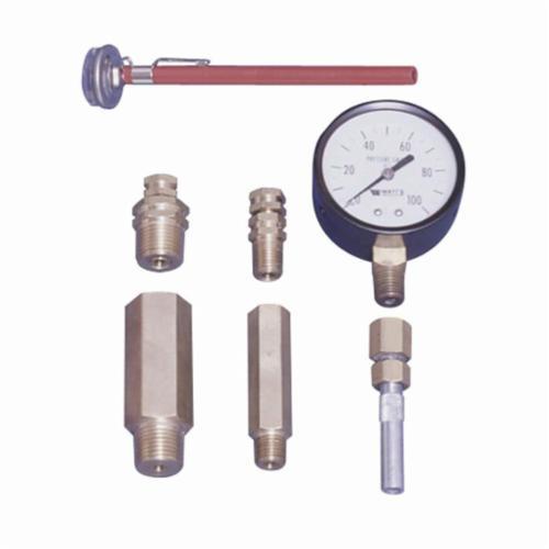 WATTS® 0123006 LFTP, LFTP-E Test Plug, FNPT, 1-1/2 in L, 500 psi, 275 deg F, Brass Body