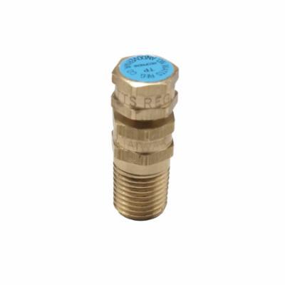 WATTS® 0123012 LFTP, LFTP-N Temperature/Pressure Test Plug, 1/4 in, 1-1/2 in L, 500 psi, Brass, Blue, Import