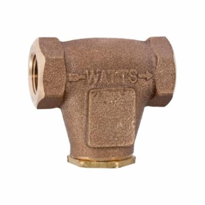 WATTS® 0123064 LF27, LF27-40 V-Pattern Strainer, 3/8 in Nominal, Threaded Connection, Cast Copper Silicon Alloy, Domestic