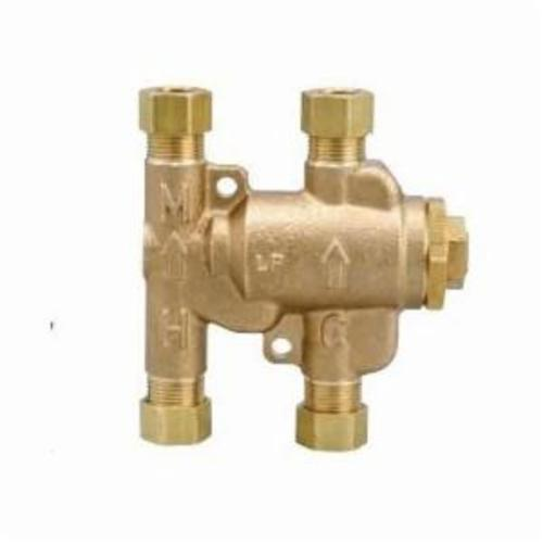 WATTS® Under Sink Guardian® 0204143 USG, LFUSG-B-M2 Thermostatic Mixing Valve, 3/8 in Nominal, Compression End Style, 150 psi Pressure, 0.25 gpm Flow, Brass Body, Domestic