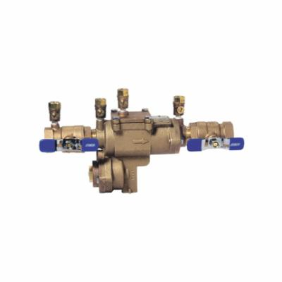 Febco® 0683000 LF860, LF860-QT RP Small Diameter Reduced Pressure Zone Assembly, 1/2 in Nominal, Threaded End Style, Quarter-Turn Ball Valve, Cast Copper Silicon Alloy Body, Import