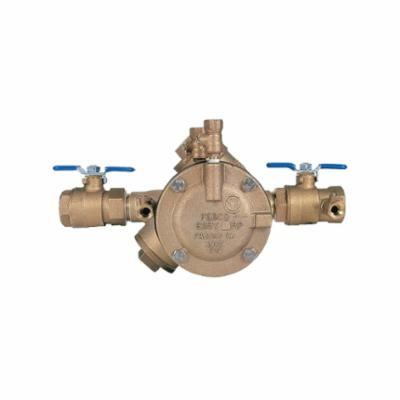 Febco® 0683007 LF825Y, LF825Y-QT RP Y-Pattern Reduced Pressure Zone Assembly, 1 in Nominal, Threaded End Style, Quarter-Turn Ball Valve, Cast Copper Silicon Alloy Body, Import