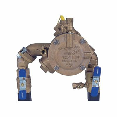 Febco® 0683012 LF825YA, LF825YA-QT RP N-Shape Angle Pattern Reduced Pressure Zone Assembly, 1 in Nominal, Threaded End Style, Quarter-Turn Ball Valve, Cast Copper Silicon Alloy Body, Import