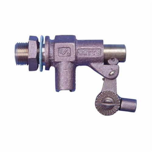 WATTS® 0780005 Heavy Duty Float Valve With Threaded Outlet Valve, 1/2 in Nominal, MNPT x FNPT End Style, 31 gpm Flow Rate, 165 psi Pressure, Import