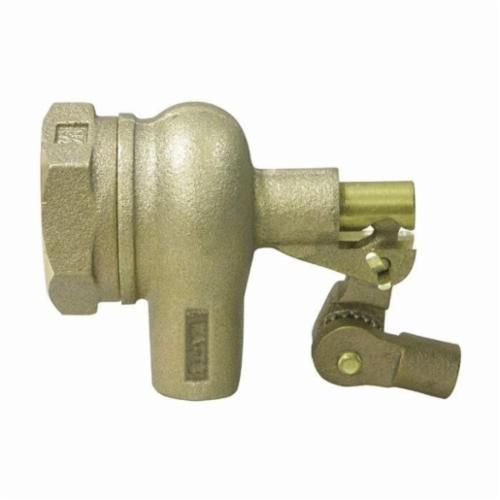 WATTS® 0780009 750-TO Standard Duty Mechanical Float Valve, 3/4 in, Machine Flange x Male Straight Pipe Threaded, 53 gpm, 165 psi, Import