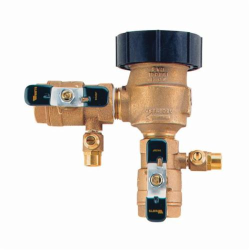 WATTS® 0792010 800M4QT, LF800M4-QT Anti-Siphon Pressure Vacuum Breaker With Quarter Turn Ball Valve Shutoff, 1/2 in, Cast Copper Silicon Alloy Body, 7.5 fps, Domestic