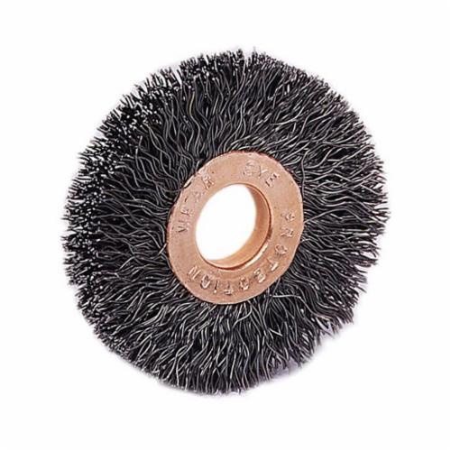 Weiler® 44074 Scratch Brush, 1-1/2 in Brush, 5-1/2 in OAL, 1-1/2 in L Steel Trim