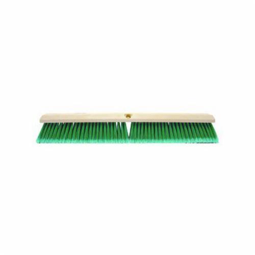 Perma-Sweep™ 42163 Push Broom, 18 in OAL, 3 in Trim, Fine Sweep Face, Flagged Green Polystyrene Bristle