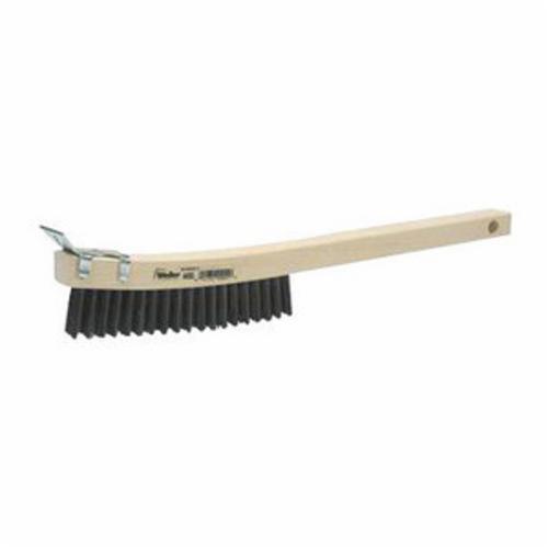 Weiler® 44053 Scratch Brush, 5-1/2 in Brush, 14 in L x 7/8 in W Block, 1-3/16 in Steel Trim