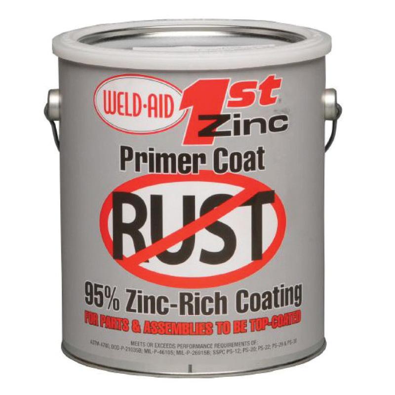 Weld-Aid® B-200 BRITE® ZINC® Cold Galvanizing Compound, 1 gal, Gray, 570 sq-ft, 69% Zinc Metal, Metallic