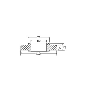 Weldbend® 110-022-000 Raised Face Slip-On Flange, 2-1/2 in, Forged Carbon Steel, 150 lb, Domestic