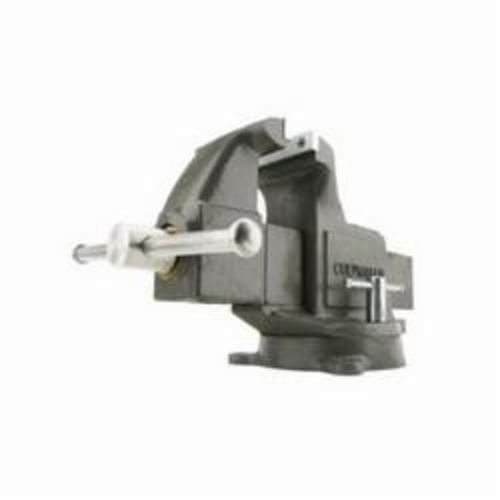 Wilton® 10031 Round Channel Machinist Vise With Swivel Base, Serrated Jaw, 10 in Jaw Opening, 6 in W Hardened Steel Jaw, 5-1/2 in D Throat