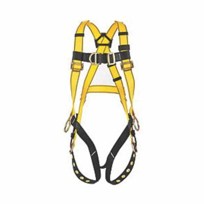 3M Protecta Fall Protection 1161205 Positioning Harness, M to L, 420 lb Load, Polyester Strap, Tongue Leg Strap Buckle, Pass-Thru Chest Strap Buckle, Steel Hardware, Black