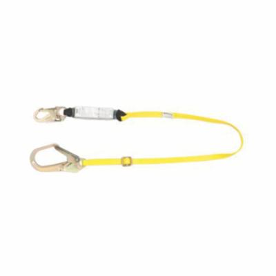 Workman® 10113158 Energy Absorbing Lanyard, 900 lb Load Capacity, 6 ft L, Polyester Line, 1 Legs, 36C Snap Hook Anchorage Connection, 36C Snap Hook Harness Connection Hook, Specifications Met: ANSI Z359.13, OSHA Approved