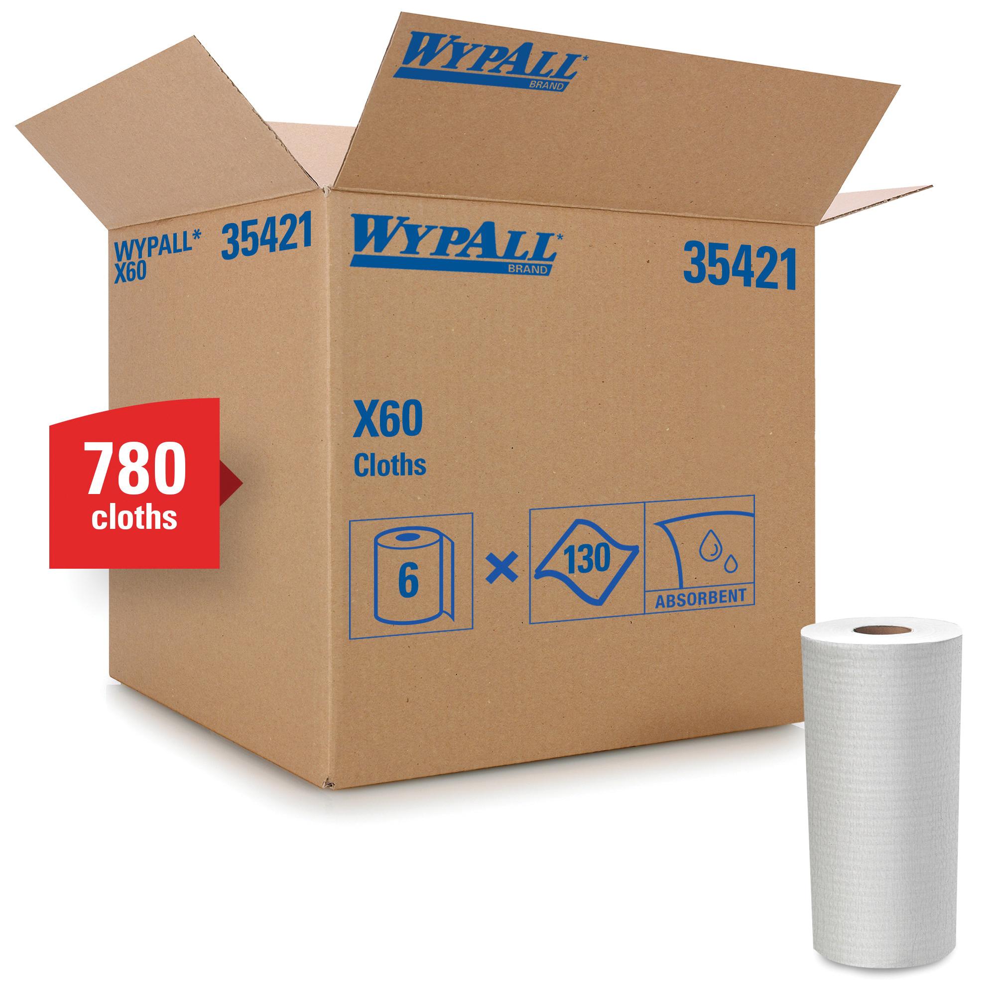 WypAll* 05800 L30 All Purpose Disposable Wiper, Cellulose, White