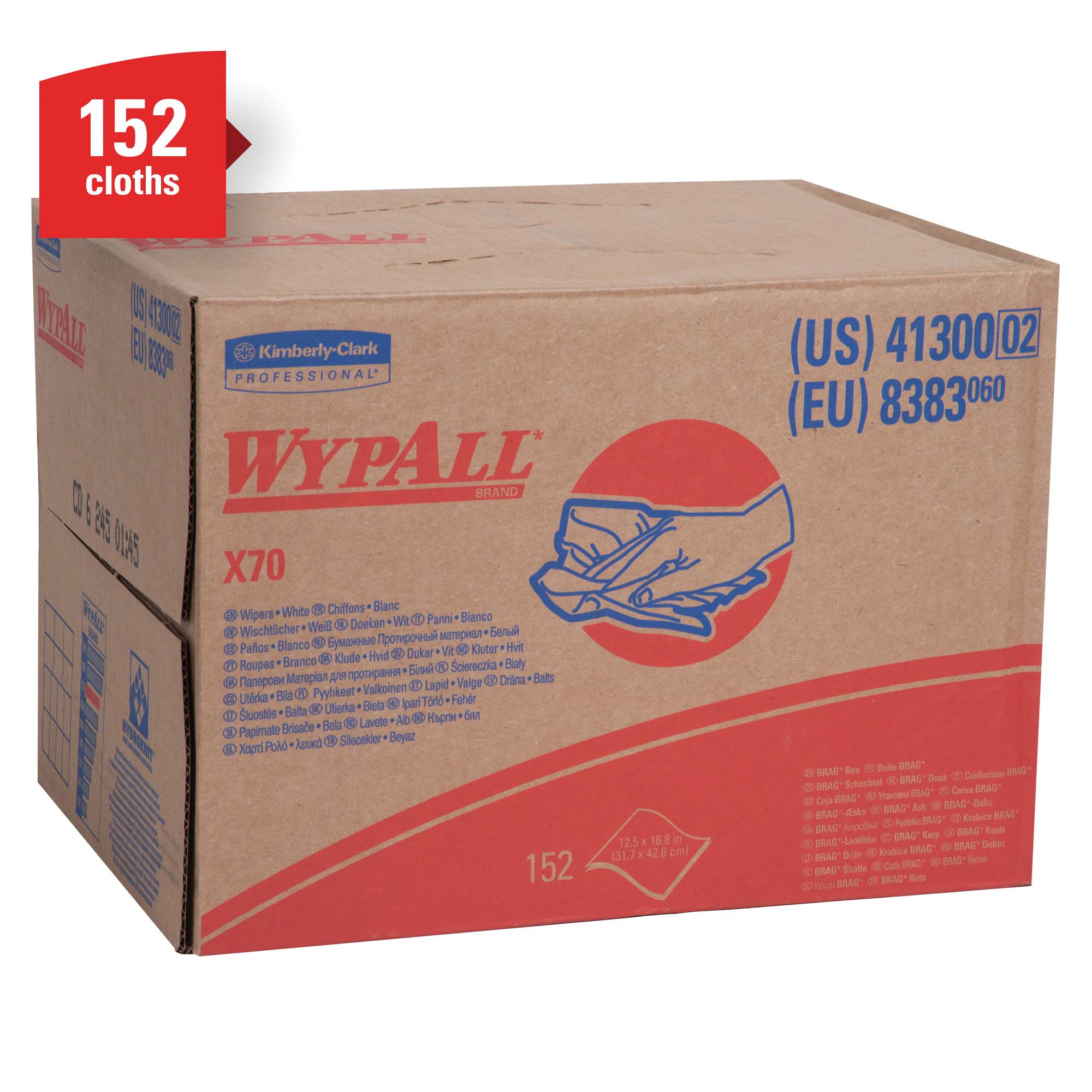 WypAll* 34790 X60 High Tech Disposable Wiper, Hydroknit*, White