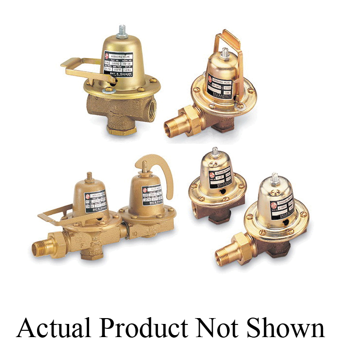 Bell & Gossett 110196LF Pressure Reducing Valve, 3/4 in, NPT, 10 to 25 psig, 6-1/2 to 7 gpm, Brass Body